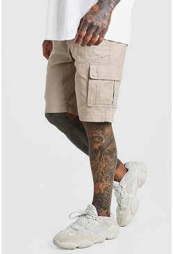 Stone Fixed Waist Cargo Short