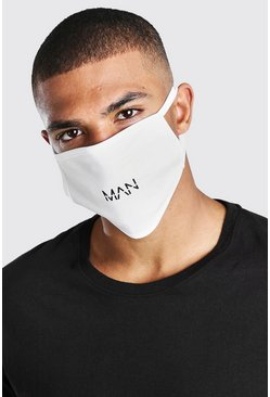 White MAN Dash Fashion Mask