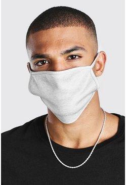 Grey marl Plain 2 Pack Fashion Masks