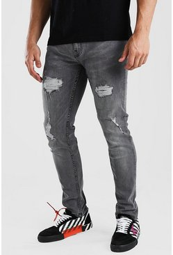 Light grey Skinny Fit Jean With Rips