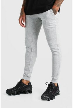Grey Basic Super Skinny Joggers