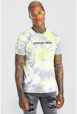 Yellow Official MAN Tie Dye T-Shirt