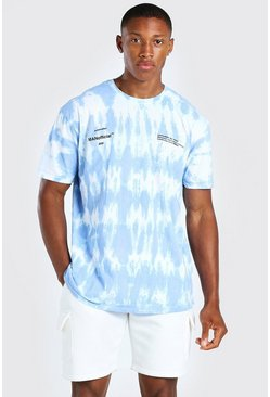 Powder blue Oversized Official MAN Tie Dye T-Shirt
