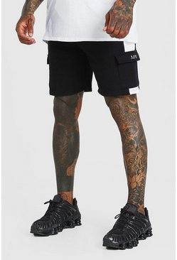 Black Original MAN Mid Length Cargo Short