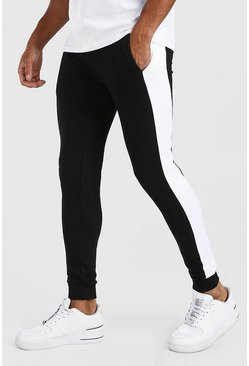 Black Super Skinny Jogger With Side Panel