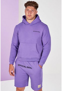 Lilac Plus Size Man Official Pastel Hoodie