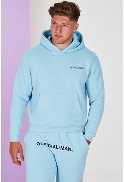 Blue Big And Tall Man Official Pastel Hoodie