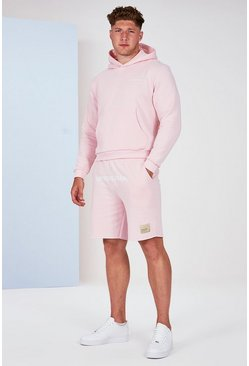 Pink Big And Tall Man Official Pastel Hoodie