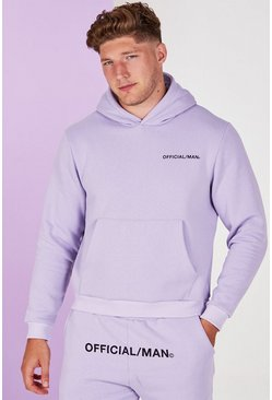 Lilac grey Plus Size Man Official Pastel Hoodie