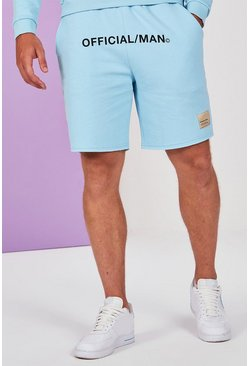 Blue Big And Tall Pastel Jersey Short