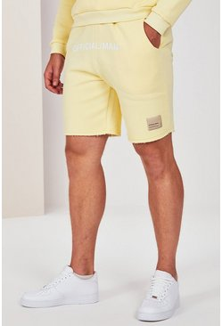 Yellow Big And Tall Pastel Jersey Short