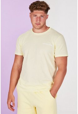 Yellow Big And Tall MAN Official Pastel T-Shirt