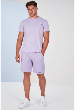 Lilac grey Big And Tall Man Official T-Shirt Set