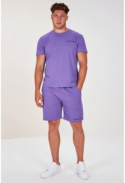 Lilac Plus Size Man Official T-shirt Set