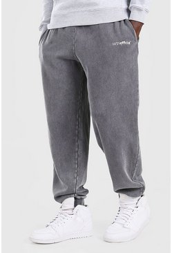 Charcoal MAN Official Loose Fit Acid Wash Jogger