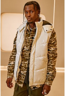 Stone MAN Official High Shine Hooded Gilet