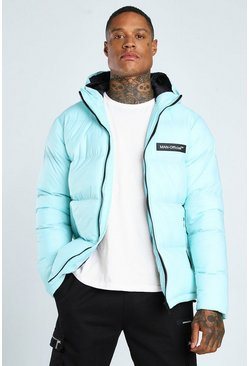 Mint MAN Branded Hand Filled Puffer