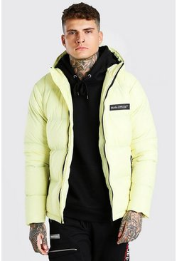 Yellow MAN Branded Hand Filled Puffer