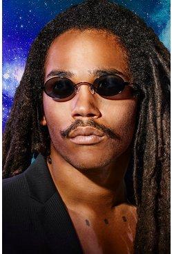 Black MAN x Roberi & Fraud Round Sunglasses