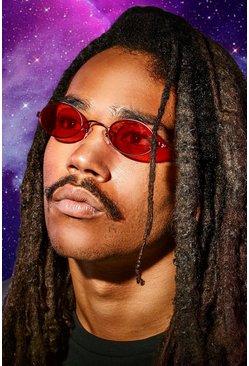 Red MAN x Roberi & Fraud Round Sunglasses