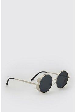 Silver Deep Frame Sunglasses
