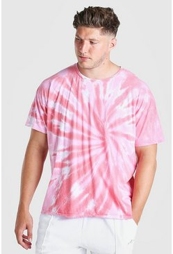 Pink Big And Tall Tie Dye T-Shirt