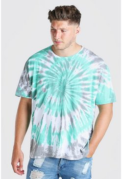 Mint Big And Tall Tie Dye T-Shirt