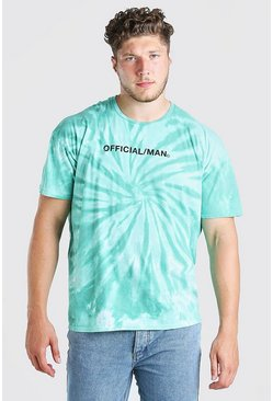 Mint Big And Tall Official MAN Tie Dye T-Shirt