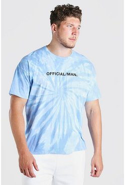 Blue Big And Tall Official MAN Tie Dye T-Shirt