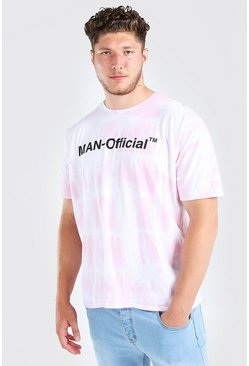 Lilac Big And Tall MAN Official Tie Dye T-Shirt