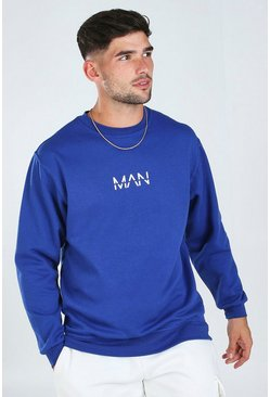 Blue Original MAN Print Sweatshirt