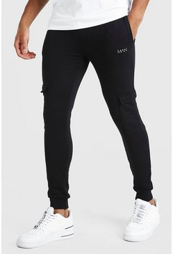 Black Original MAN Super Skinny Cargo Jogger