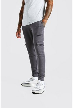 Original MAN Super Skinny Cargo-Jogginghose, Anthrazit