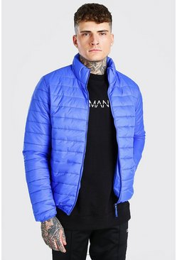 Cobalt Foldaway Padded Jacket With Bag