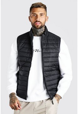 Black Foldaway Padded Vest With Bag