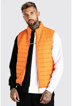 Orange Man Dash Foldaway Padded Gilet With Bag