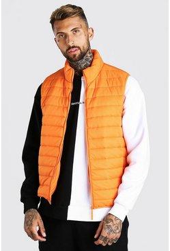 Orange Man Dash Foldaway Padded Gilet With Bag
