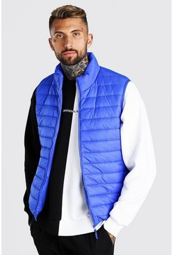 Cobalt Man Dash Foldaway Padded Gilet With Bag