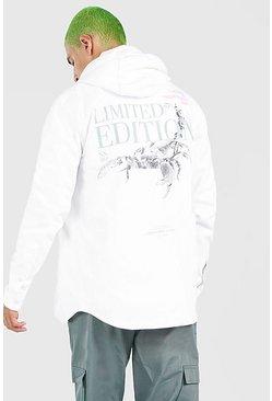 White Man Scorpion Back Print Shirt Jacket