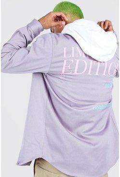 Grey Man Limited Edition Back Print Shirt Jacket