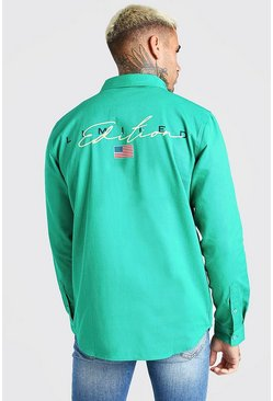 Green MAN Limited Edition Back Print Overshirt