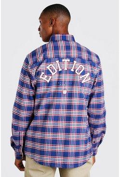 Black Check Shirt With Edition Back Print