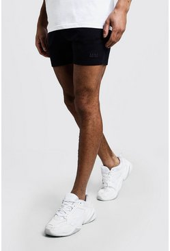 Mens Navy Original MAN Short Length Jersey Shorts