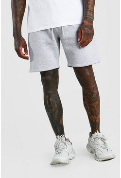 Short Man mi-long en jersey signature, Grey, Homme