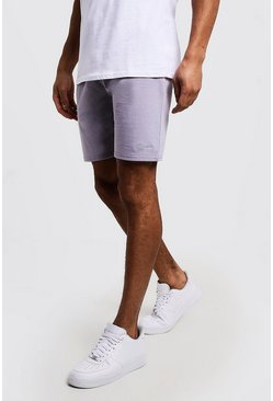 Short Man mi-long en jersey signature, Gris clair, Homme