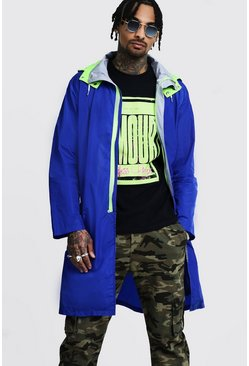 Mens Cobalt Longline Colour Block Mac