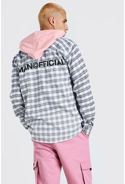 Coral MAN Official Back Print With Contrast Hood