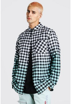 Turquoise Ombre Check Shirt
