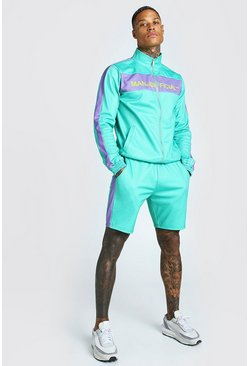 Green MAN Official Tricot Funnel Neck Short Tracksuit