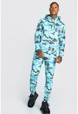 Green Man Official Camo Print Tracksuit
